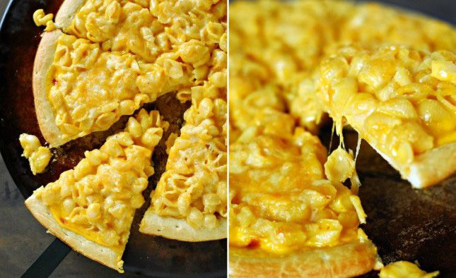 Macaroni and Cheese Pizza.