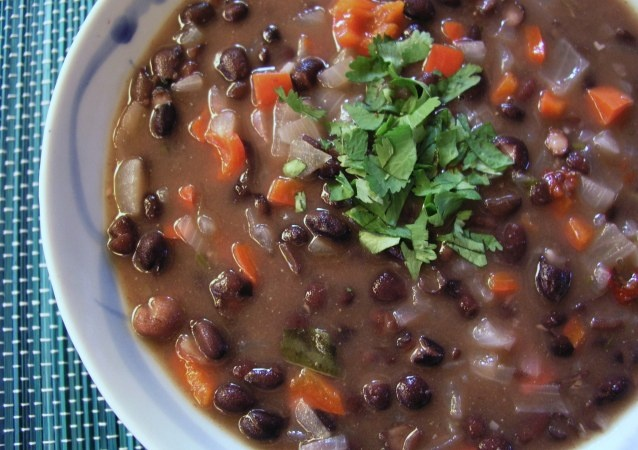 Black bean soup with chipotle chile | recipes | Pinterest