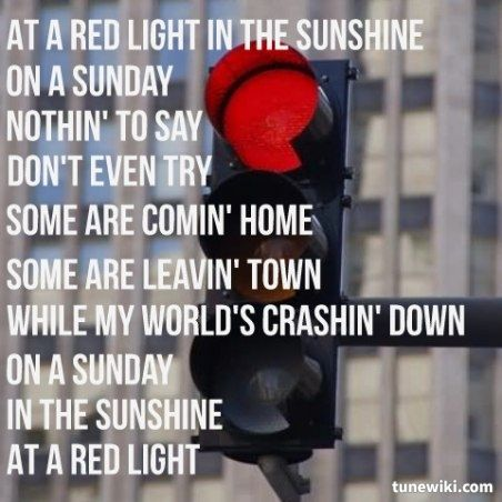 David nail red light song meaning