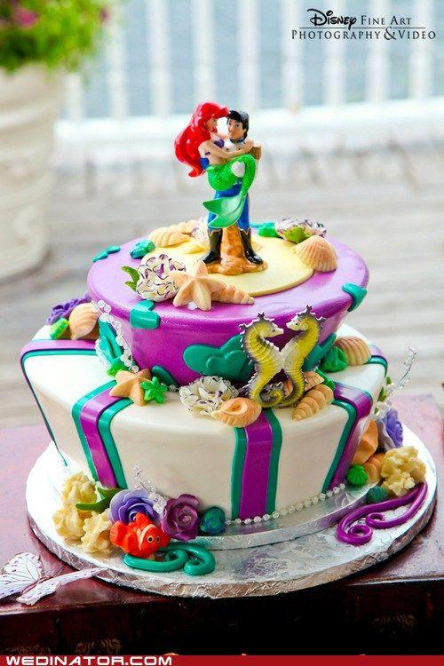 Cutest disney themed wedding cake I have ever seen!
