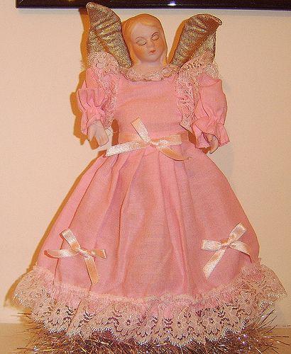retro pink treetopper angel by ShelovesFrillsandLace, via Flickr