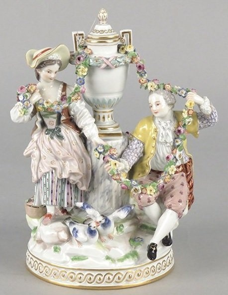 Meissen Dresden Porcelain Manufactory (Germany) — Figural Group (458x562)
