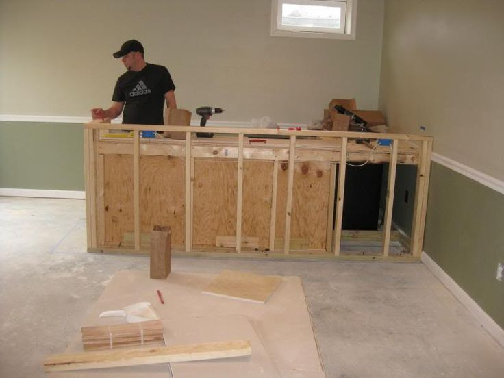 Pin by stickette jones on kitchen pinterest for How to build a bar in my basement