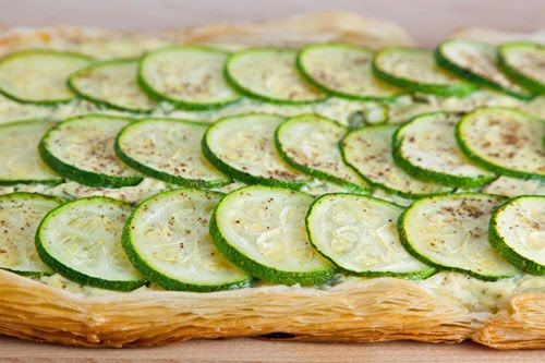 Zucchini and Feta Ricotta Tart | Recipe