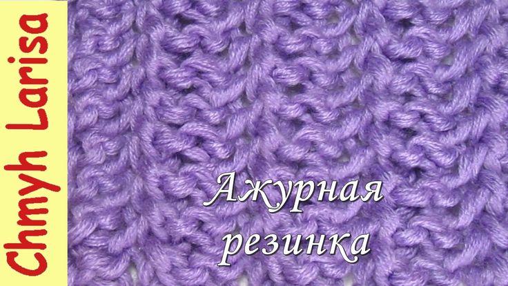 Вязание резинки спицами для снуда