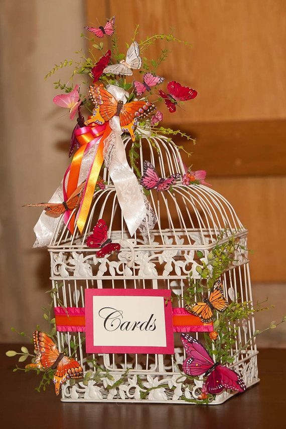 SALE PricedButterfly Card Holder for Weddings in Red by justanns, $70.00