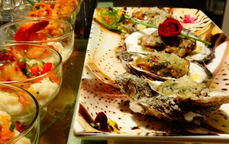 Oysters & Shrimp N' Grits   High Tide Catering   Pinterest