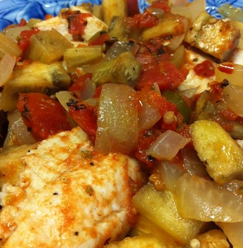 Baked Catfish with Eggplant and Tomatoes | Whole30 Approved Recipes ...