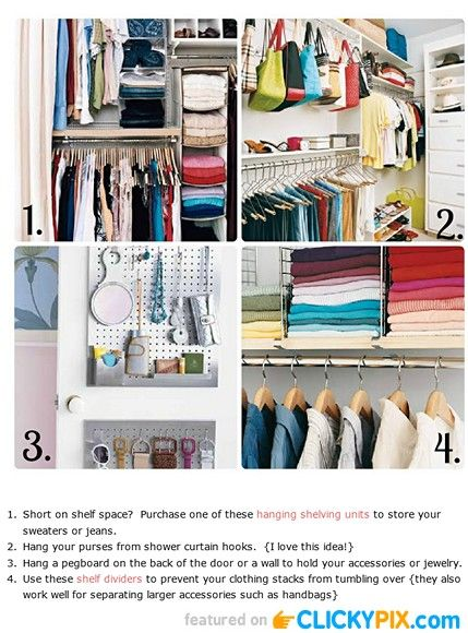 19 diy closet organization ideas diy crafty pictures Diy wardrobe organising ideas