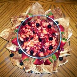 Annie's Fruit Salsa and Cinnamon Chips Allrecipes.com Yum, Yum, Yum ...