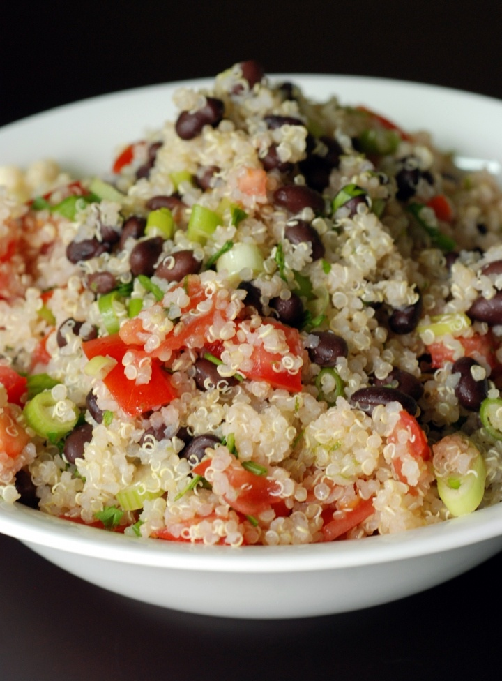 black bean, tomato, and quinoa salad | Great food | Pinterest
