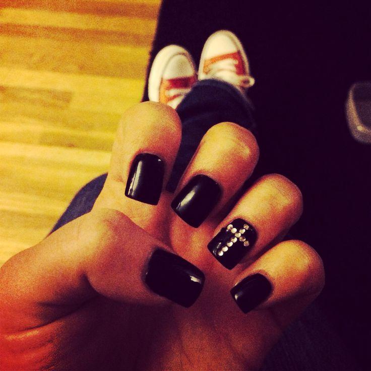 black cross diamond nails nail designs pinterest