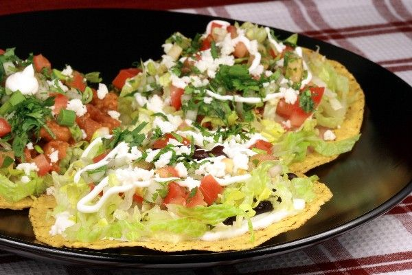 Chipotle Beef Tostadas: crunchy tostada shells with layers of seasoned ...