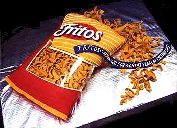 cake that looks like fritos