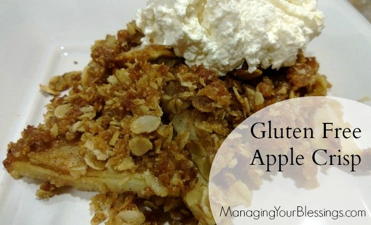 Gluten Free Apple Crisp :: Sarah shares her #gf #glutenfree recipe for ...
