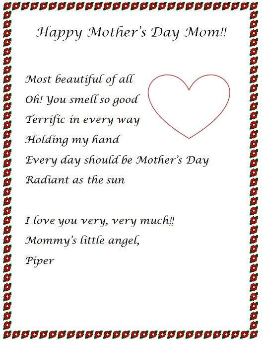 Mother essays