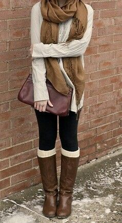 Guess ill finally break down this fall and mix my black legging with some brown now that its a Trend and cute cause it wasn't 5 years ago