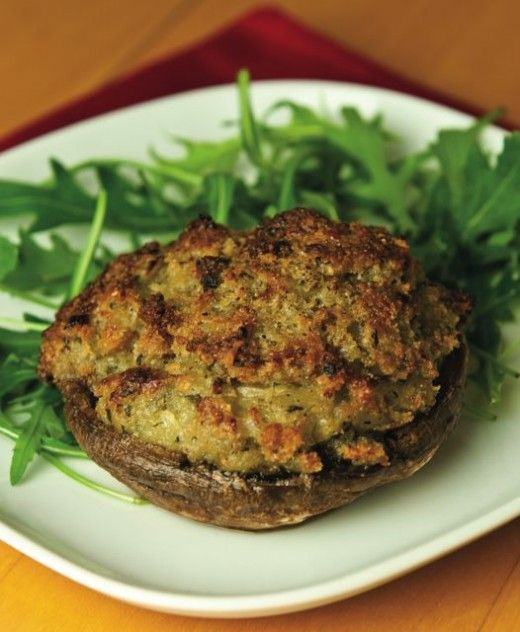The Starter for a Traditional British Feast: Stilton Stuffed Mushrooms
