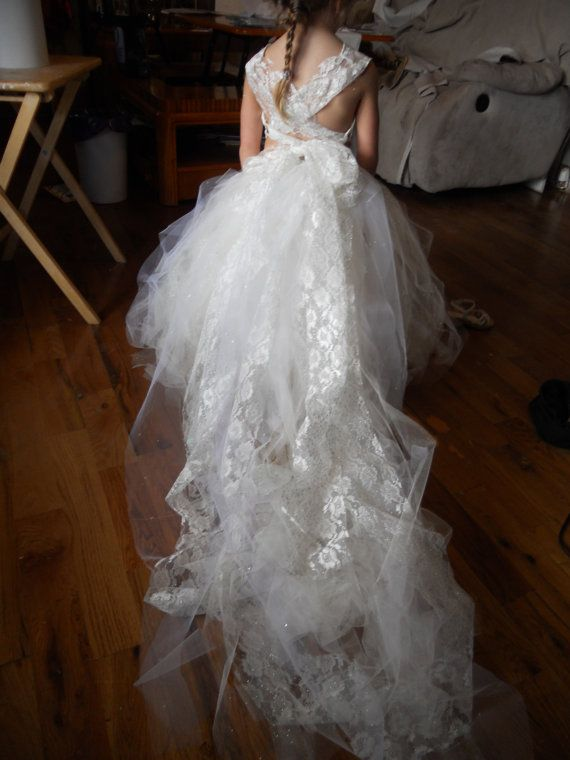 Flower Girl Dresses with Trains