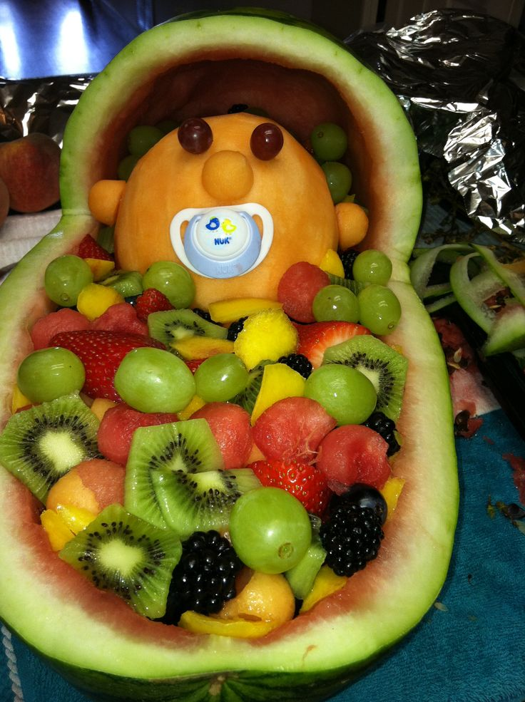 baby fruit basket for shower baby themed parties pinterest