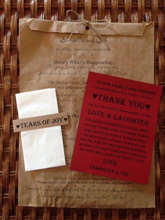 Ceremony Program Paper