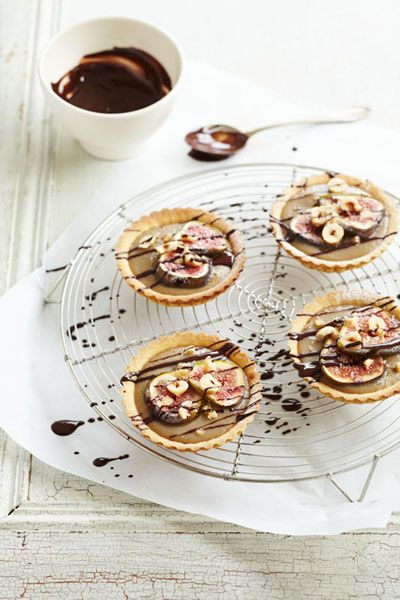 Hazelnut and fig tarts | Fig recipes for the perfect autumn dessert ...