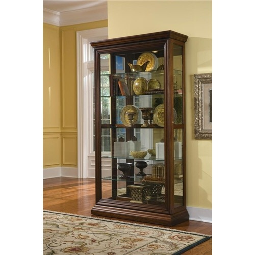 Curios Edwardian Two Way Sliding Door Curio By Pulaski Furniture