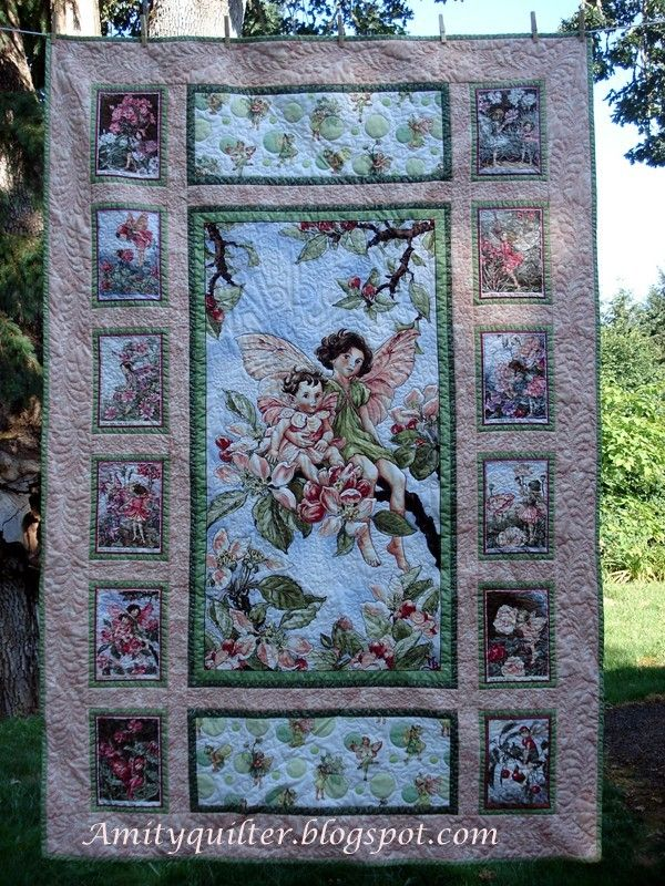 Michael Miller Fairy Frost panel quilt Patch & Quilt this Pintere?