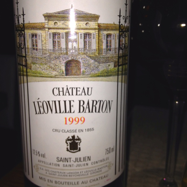 1999 bordeaux pretty good even though i think the label is ugly