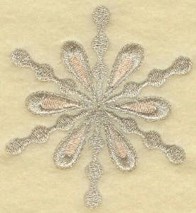 Threadsketches' set Chance of Snow - Christmas machine embroidery design, silver snowflake