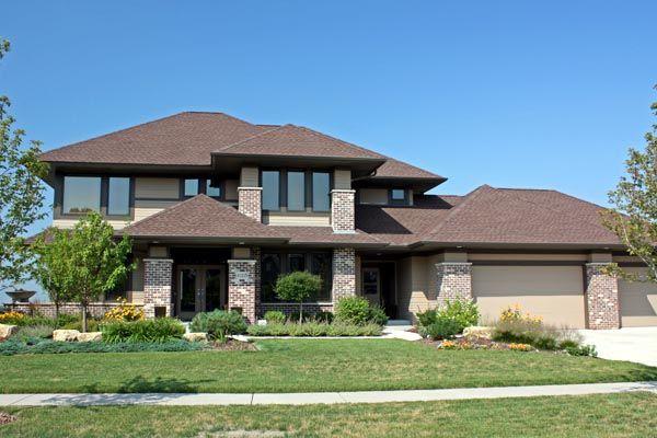 Contemporary craftsman prairie style southwest house plan for Contemporary southwest home designs