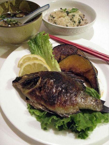 Shioyaki: whole salt grilled fish | Yummy Whole fish | Pinterest