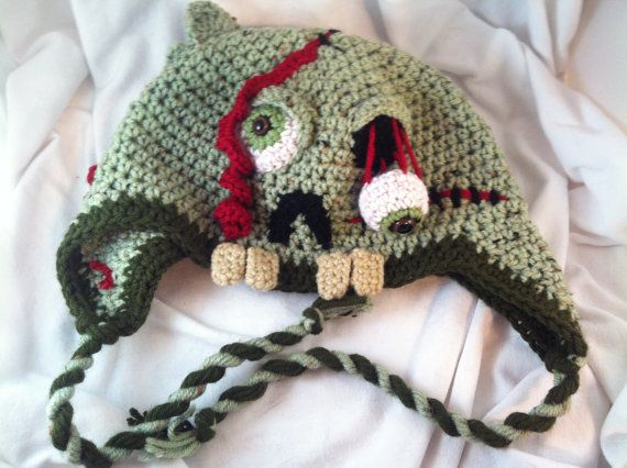 ... at https://www.etsy.com/listing/107865231/custom-crochet-zombie-hat