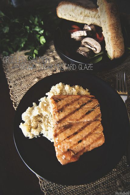Grilled Salmon with Brown Sugar Mustard Glaze | Recipe
