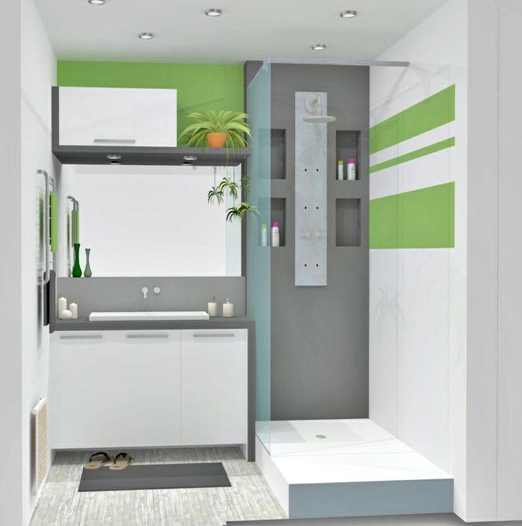 R novation petite salle d 39 eau douche pinterest for Comdeco petite salle d eau