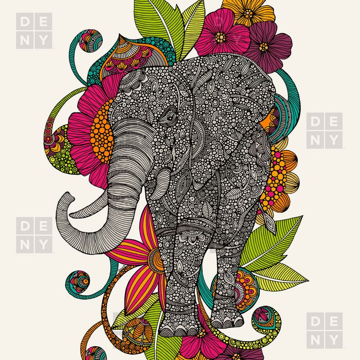 Ramos ruby the elephant shower curtain deny designs home accessories