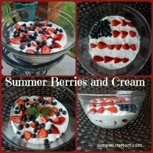 Summer Berries and Cream | From The Farm | Pinterest