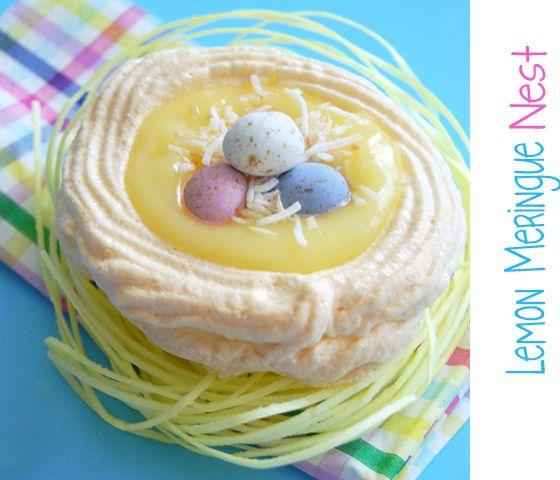 Easter Lemon Meringue Nest | Spring | Pinterest