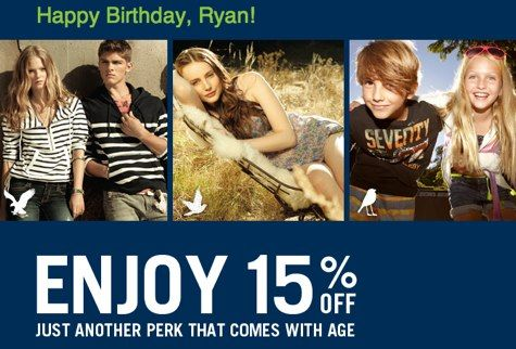 Shopping Tips for American Eagle: 1. Sign up for the AEO Connected Rewards program to get 15% off on your birthday. After that, every purchase earns 10 points per $1 and exclusive savings.
