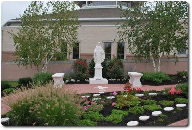Parish rosary garden catholic pinterest for Rosary garden designs