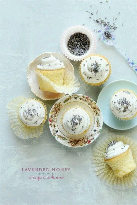 Lavender Honey Cupcakes | food & drink | Pinterest