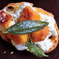 Butternut Squash, Ricotta, and Sage Crostini by SELF
