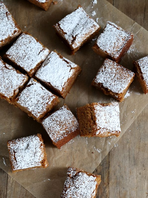 Nothing says fall better than Gluten Free Apple Gingerbread Snack Cake