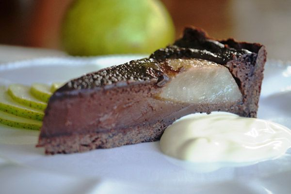 Chocolate Pear Tart | Heavenly Chocolate Delights | Pinterest