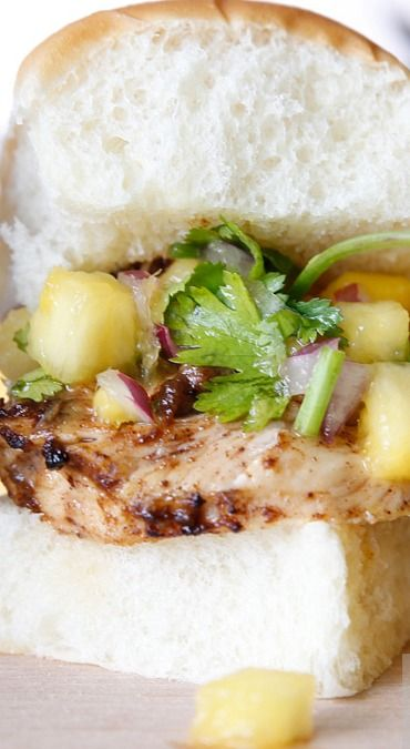 Jerk Chicken Sliders with Pineapple Mango Salsa | Recipe
