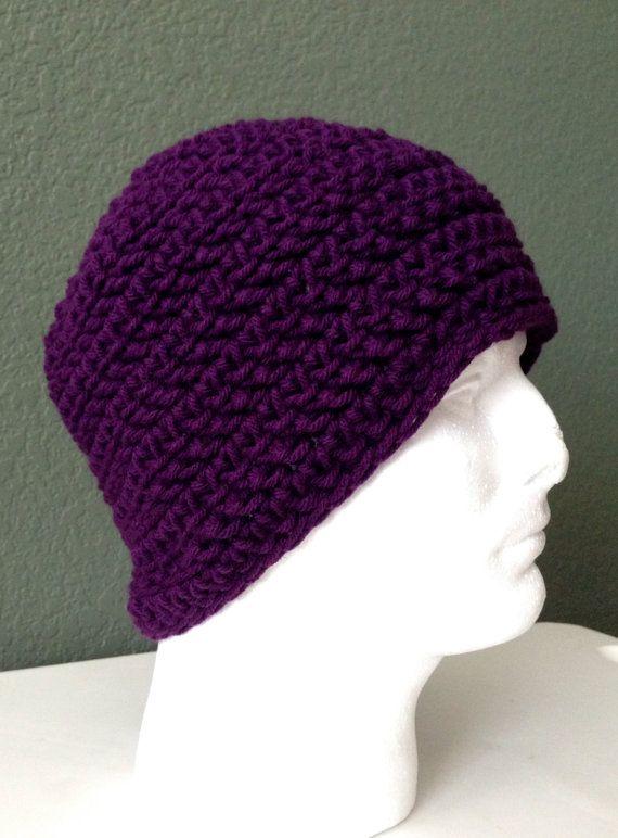 Crochet Skull Cap : Mens Crochet Skull cap. Crochet Beanie. Hand Crochet Hat