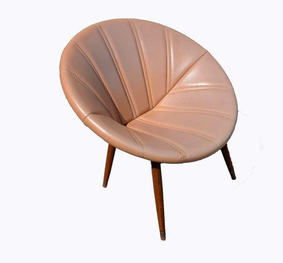 Saucer Chair Disc Chair Mid Century Modern by HearthsideHome, $239.00