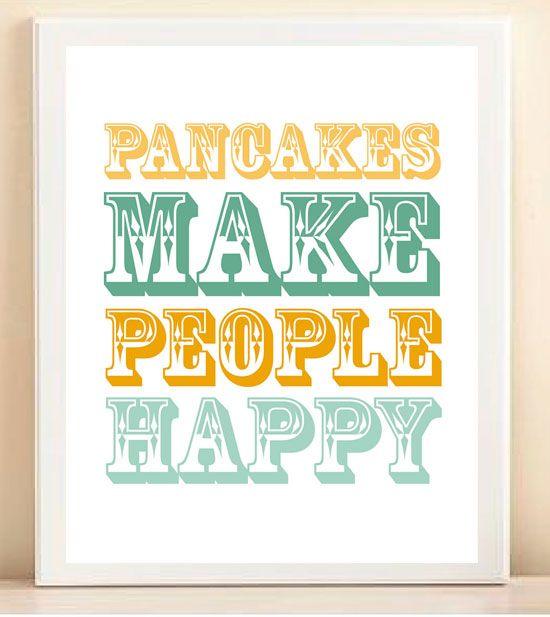 Pancakes do make people happy