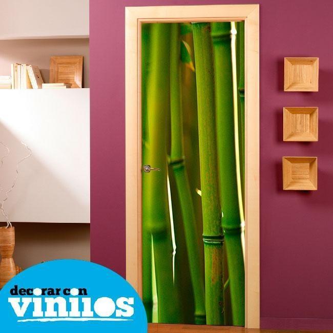 Vinilo decorativo para puertas de bambu vinilos para - Puertas con vinilo ...