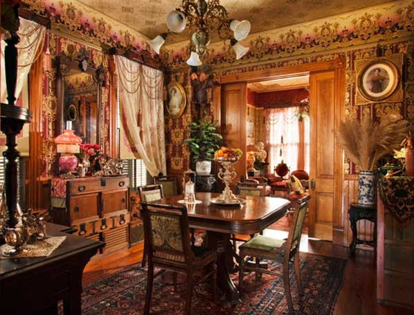Victorian inspired dining room exquisite elegance for Victorian house dining room ideas